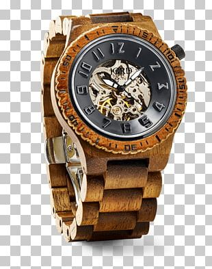 Automatic Watch Wood Clock Movement PNG