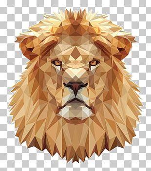 Lions Head Cross-stitch Pattern PNG