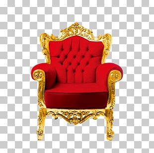 Throne Wing Chair Couch Table Living Room PNG