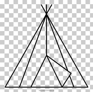 Coloring Book Tipi Drawing Native Americans In The United States Black And White PNG