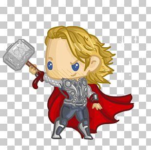 Thor Loki Iron Man Cartoon Chibi PNG
