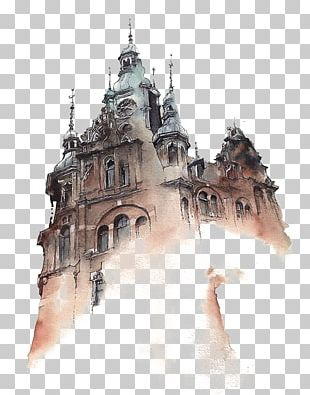 Watercolor Painting Architecture Artist PNG