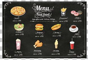Hamburger Fast Food Hot Dog Cafe Menu PNG