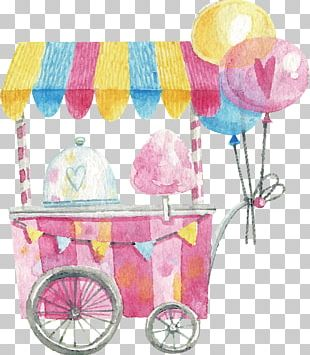 Cotton Candy Lollipop PNG