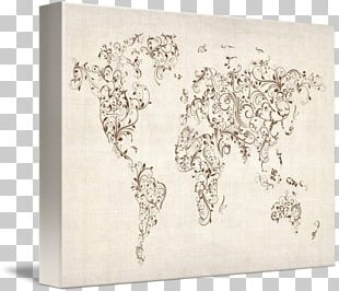 World Map Drawing Art PNG