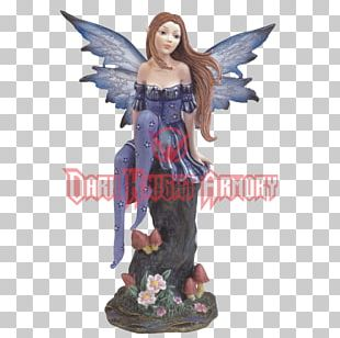 Figurine Statue Sculpture The Fairy With Turquoise Hair PNG