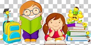 Cartoon Child Study Skills PNG