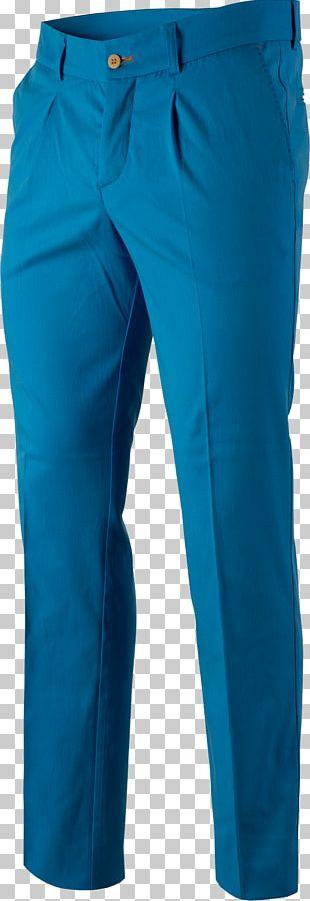 Jeans Cobalt Blue Waist Pants PNG