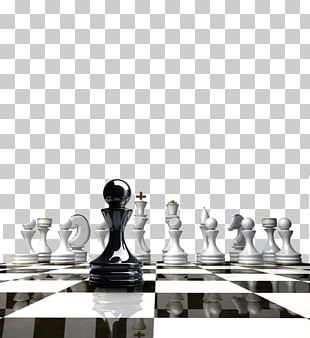 Chess Piece White And Black In Chess Chessboard Board Game PNG