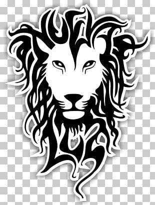 Lion Tattoo Rastafari Reggae PNG