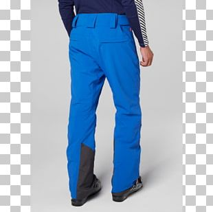 Cobalt Blue Waist Jeans Pants PNG