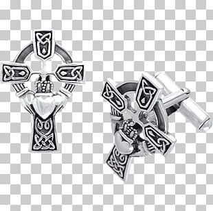 Claddagh Ring Cross Bracelet PNG