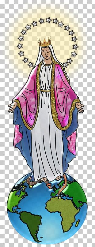Immaculate Heart Of Mary Queen Of Heaven Ave Maria Holy Card PNG