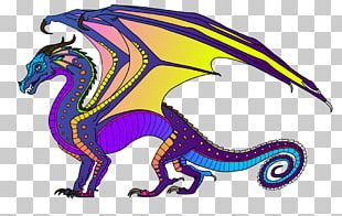Wings Of Fire Dragon The Hidden Kingdom Coloring Book PNG