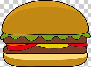 Hamburger Cheeseburger Veggie Burger Cartoon PNG