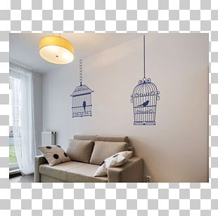 Bird Cage Sticker Wall Painting PNG