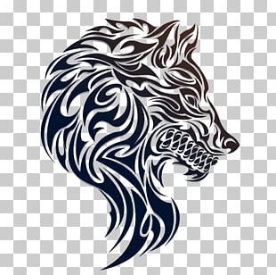 Paper Gray Wolf Sticker PNG