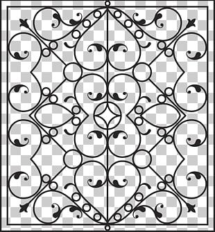 Wrought Iron Wall Fence PNG