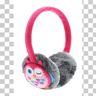 Headphones Owl Earmuffs Toy Pink M PNG