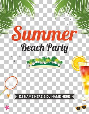 Party Beach Flyer PNG