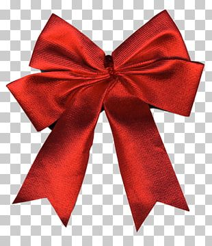 Christmas Blue Ribbon Gift PNG