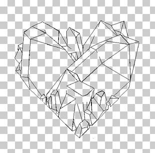 Crystal Drawing Line Art PNG