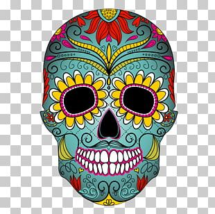 Calavera Cupcake Skull Day Of The Dead Mexican Cuisine PNG