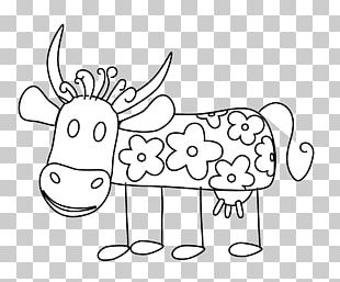 Cattle Drawing Line Art Coloring Book PNG