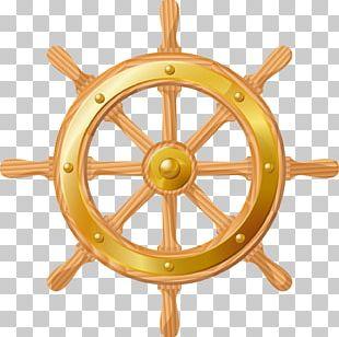 Rudder Boat Ship's Wheel Steering PNG