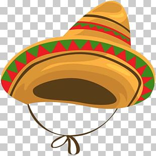 Mexican Cuisine Sombrero Hat Cartoon PNG