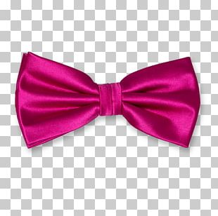 Bow Tie Pink Fuchsia Satin Clothing Accessories PNG