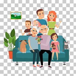 Family Couch Father Illustration PNG