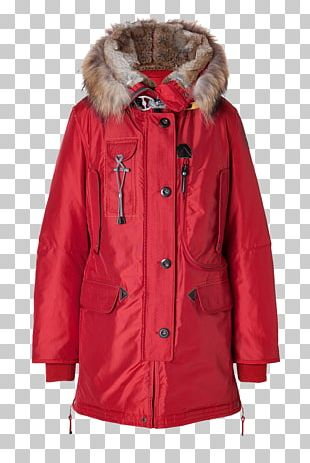 Jacket Fur Down Feather Hood Parka PNG
