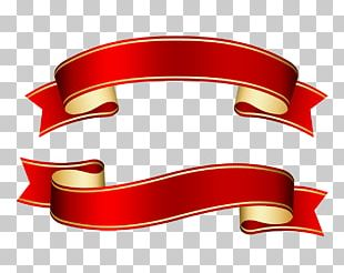 Red Ribbon Paper PNG