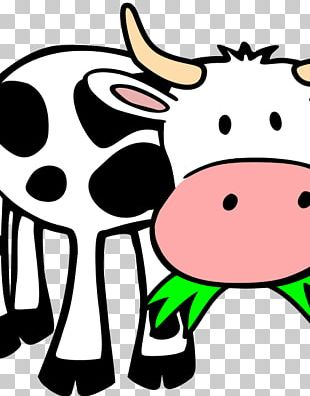 Beef Cattle Panda Cow Look At! Farm Animals Graphics PNG