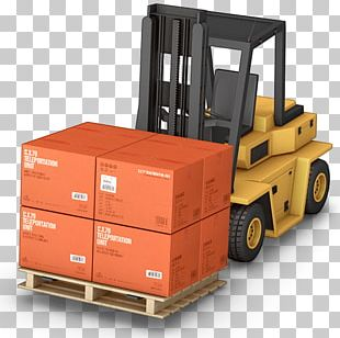 Warehouse Forklift Transport Business Intermodal Container PNG