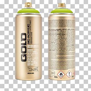 Aerosol Paint Aerosol Spray Gold Color PNG
