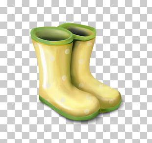 Wellington Boot Cowboy Boot Green PNG
