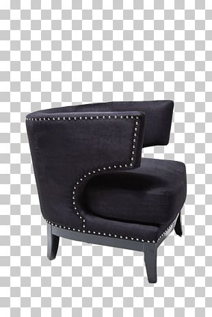 Art Deco Wing Chair Fauteuil Furniture PNG
