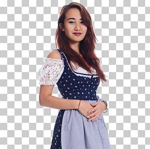 Polka Dot Shoulder Sleeve Blouse Dress PNG