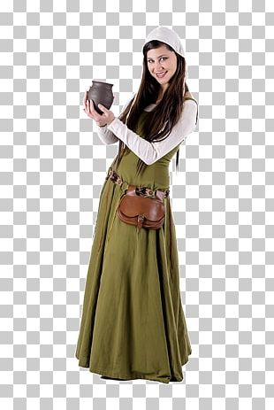 Middle Ages Dance Costume Time Party PNG