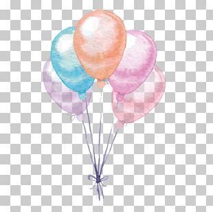 Balloon Watercolor Painting PNG