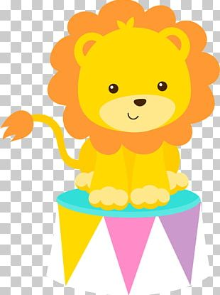Baby Lions Circus Drawing PNG