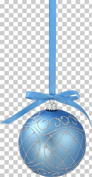Christmas Blue Ball PNG