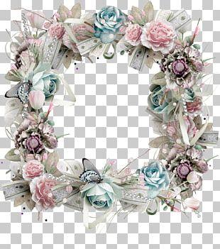 Flower Wreath Garden Roses PNG