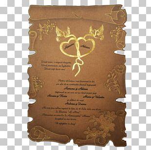 Convite Wedding Parchment Banquet Courier PNG
