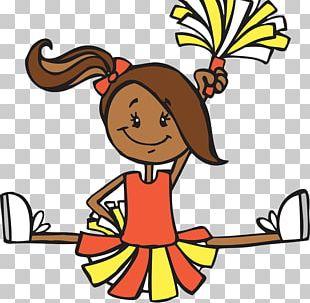 Cartoon Cheerleader Illustration PNG
