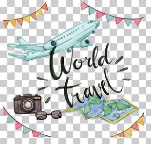Airplane Travel Watercolor Painting PNG
