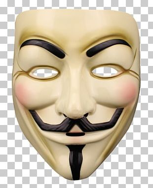 Guy Fawkes Mask Anonymous Halloween Costume V For Vendetta PNG