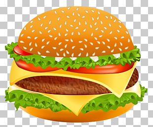 Hamburger Cheeseburger Hot Dog Fast Food PNG
